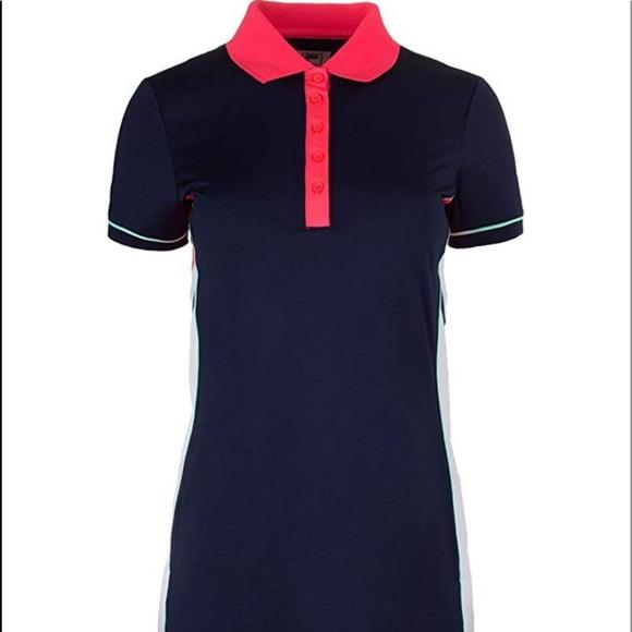558f82e7b7 FILA Heritage Tennis Polo Dress